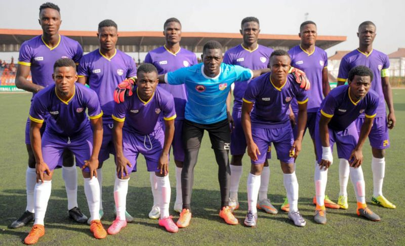 MFM F.C Players taking a team photo before their game against Wiki Tourist