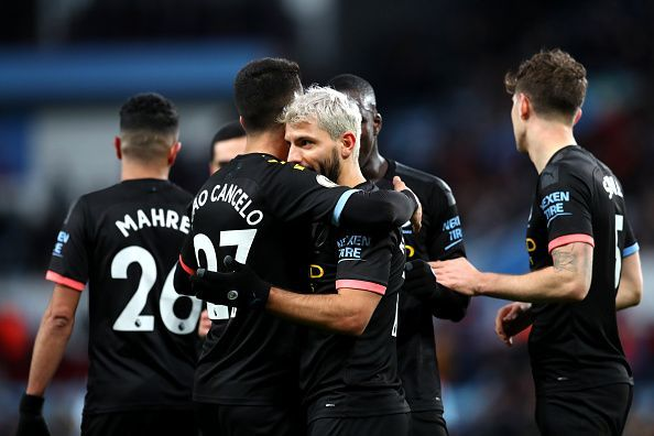 Manchester City smashed six past a struggling Aston Villa to record their biggest away win of the season
