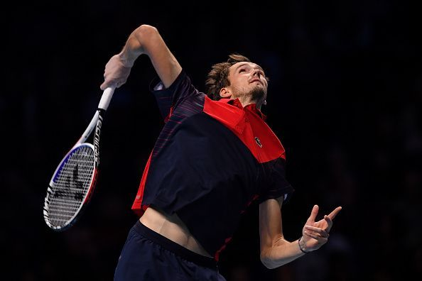 Medvedev can always rely on his serve to win free points