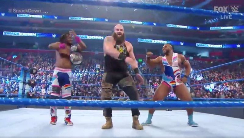 Braun Strowman dancing with The New Day