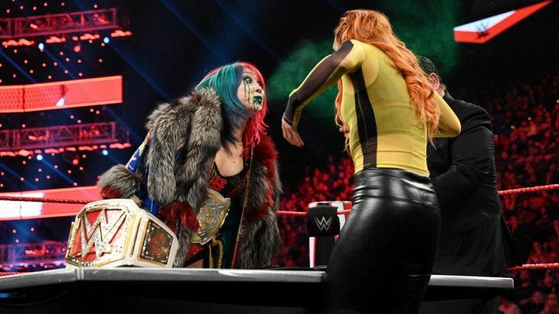 Asuka and Becky Lynch on RAW