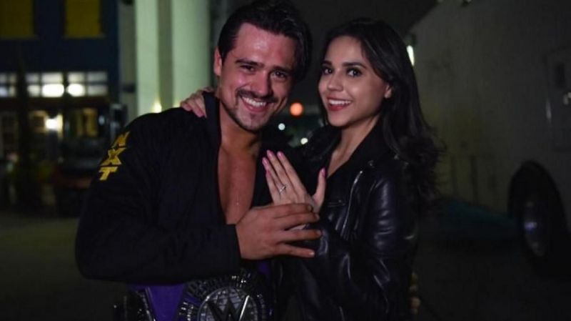 Angel Garza recently proposed to his girlfriend Zaide