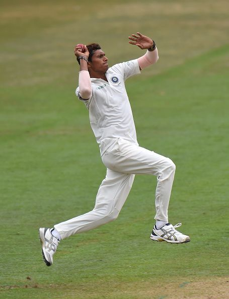Navdeep Saini in action for India A