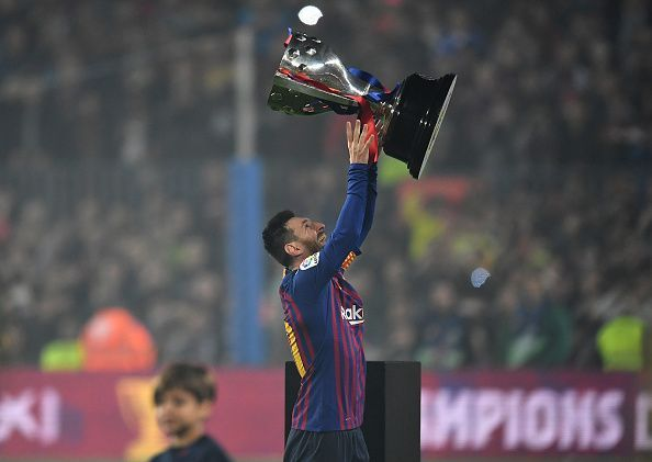 Captain Lionel Messi lifted Barcelona