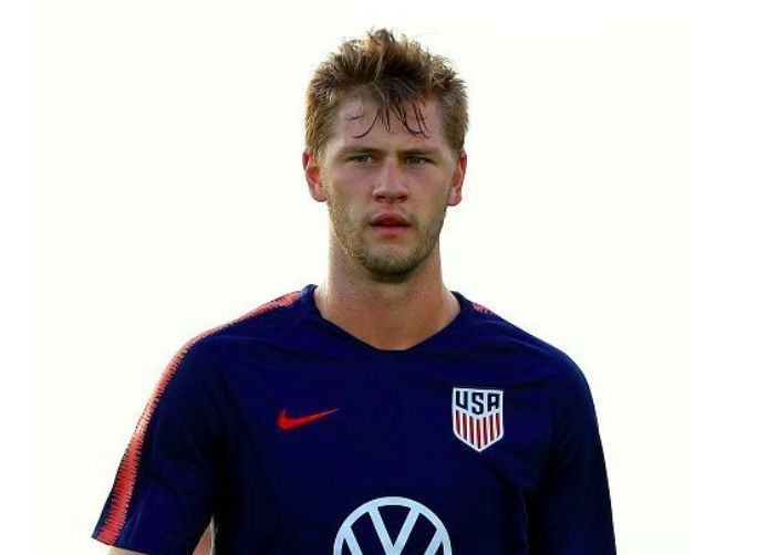 Zimmerman pictured during a United States training session
