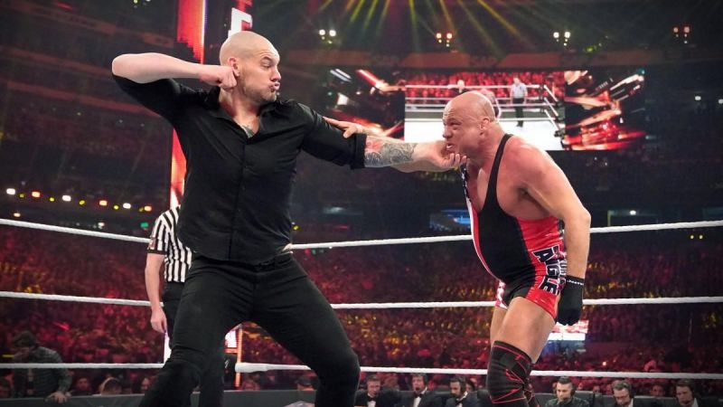 King Corbin fought Kurt Angle at WrestleMania 35