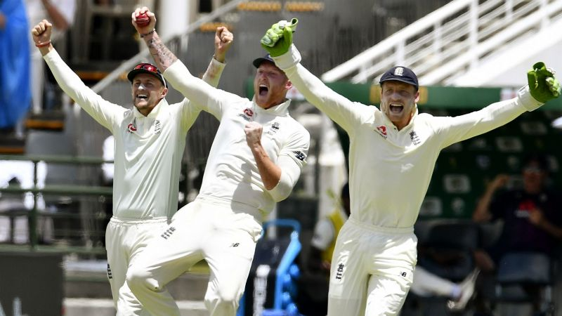 England celebrate against South Africa