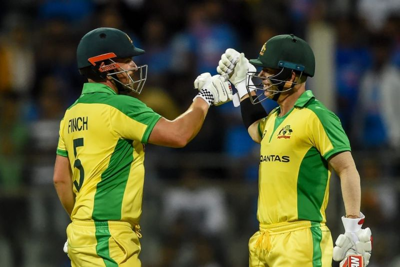 Aaron Finch and David Warner put up a record stand