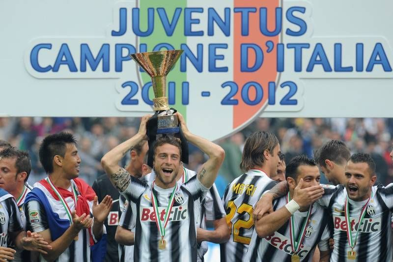 Juventus celebrate their 27th Scudetto in 2011-12