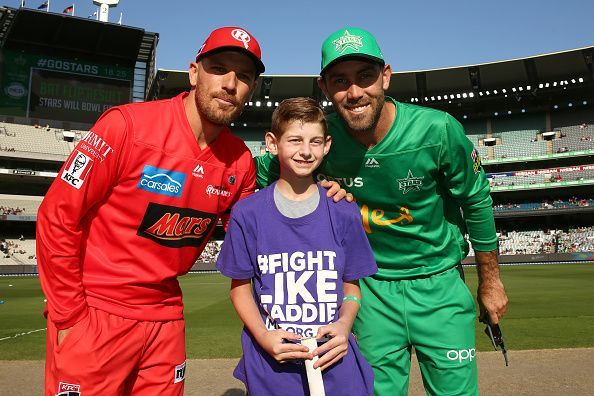Aaron Finch (left) and Glenn Maxwell (right)