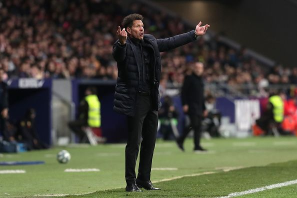 Diego Simeone has registered a win over Barcelona after four years