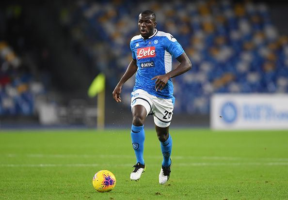 Koulibaly brings the ball out of defence