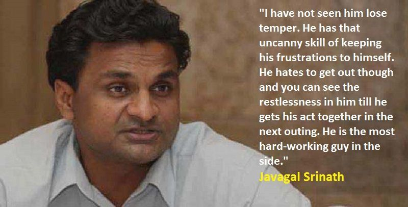 Srinath on Dravid