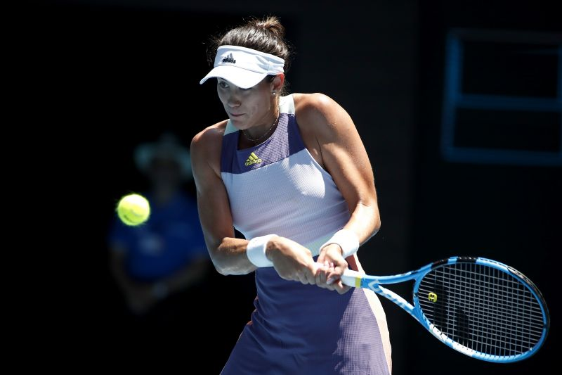 Muguruza has used her backhand from the baseline to great effect.