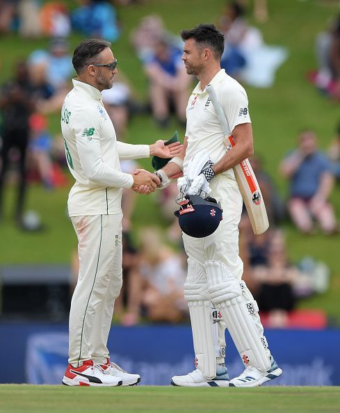 Faf du Plessis vs James Anderson