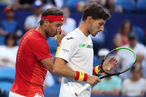 Rafael Nadal and Pablo Carreño Busta