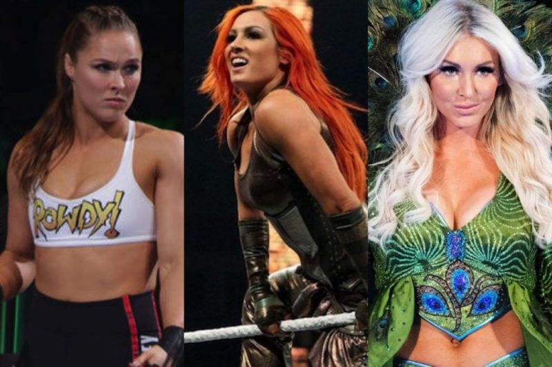 Ronda Rousey, Becky Lynch, and Charlotte share the distinction of being the first women to main event a WrestleMania in the mega event