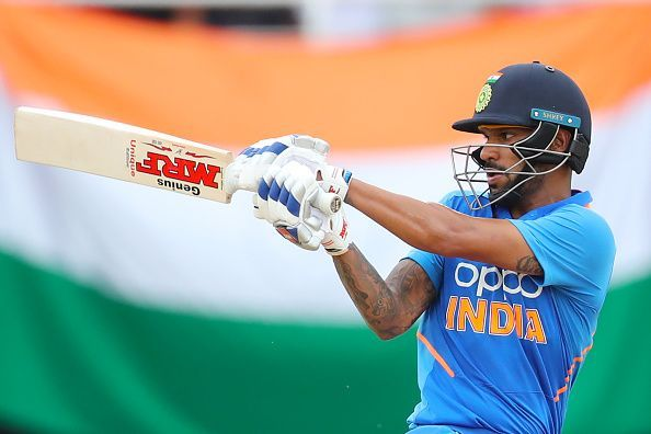Dhawan scored 74 off 91 balls but that was not enough to help India post a fighting total