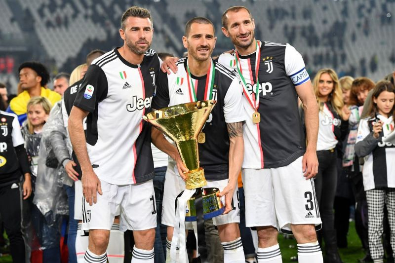 Juventus celebrate their record-extending 35th Scudetto in 2018-19
