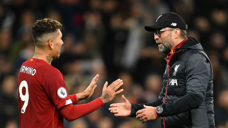 Firmino and Klopp - cropped