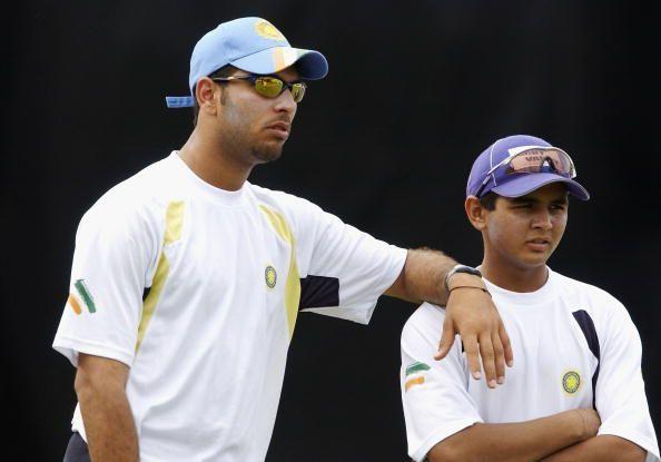 Yuvraj Singh (left) and Parthiv Patel (right)