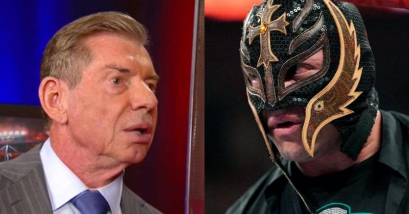 Vince McMahon and Rey Mysterio.