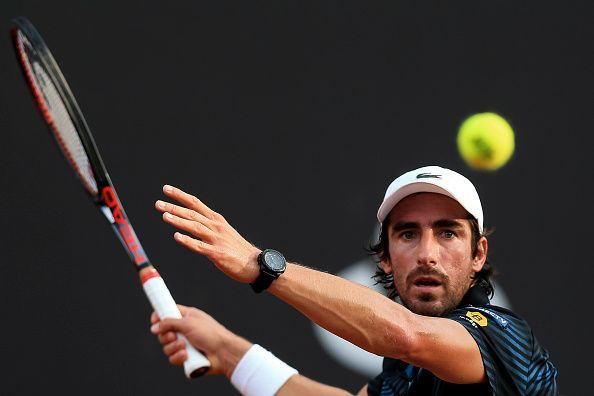 Pablo Cuevas won just one game in his opening match against Yoshihito Nishioka