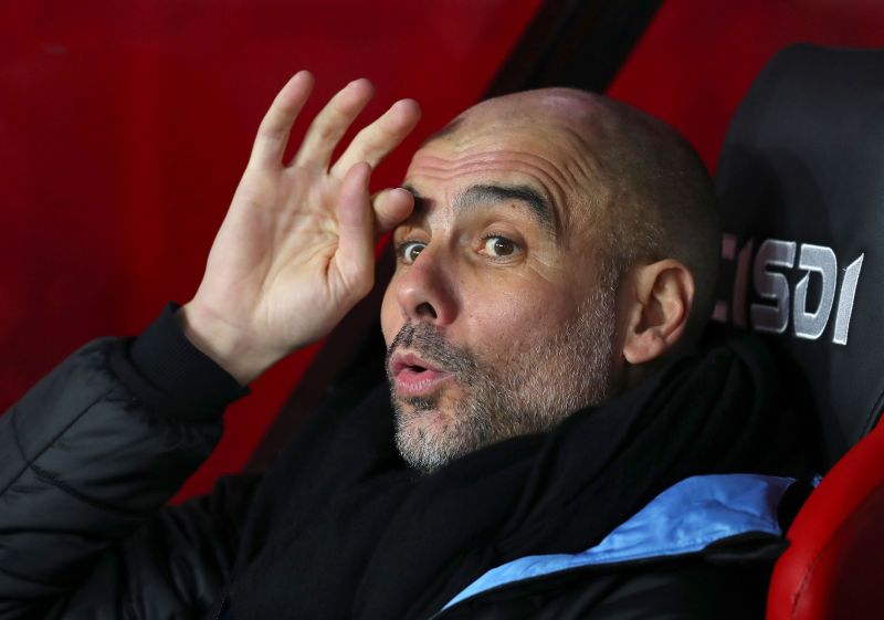 Pep Guardiola is expected to name a strong lineup