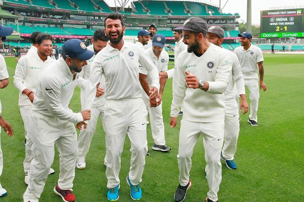 India finished the year as No. 1 on the ICC Test Championship points table