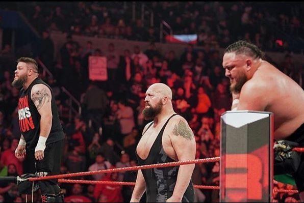 Kevin Owens. The Big Show and Samoa Joe