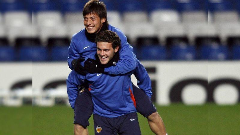David Silva and Juan Mata at Valencia during the start of their careers