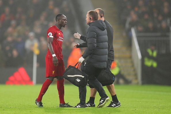 Sadio Mane was substituted before the halfway mark against Wolves