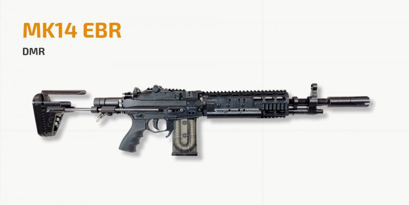 MK14 also has full auto mode other than single fire mode making it effective even at a medium-range