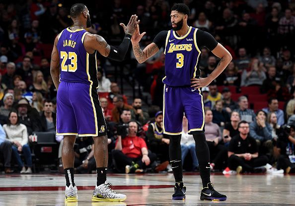 Los Angeles Lakers have ridden on huge contributions from LeBron James and Anthony Davis this season
