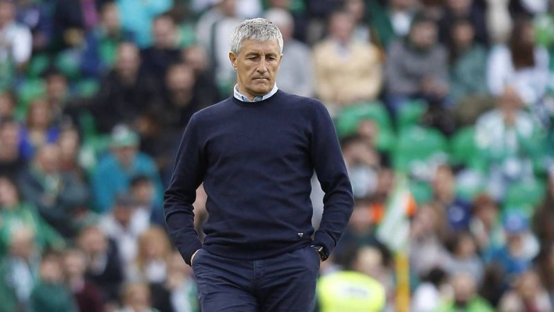Quique Setien is known for his exciting brand of football