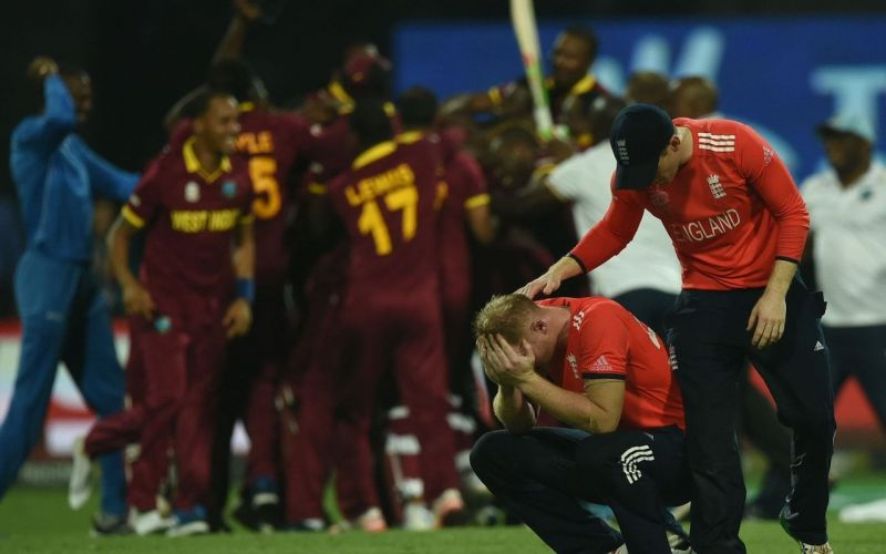 Ben Stokes was left dejected after their loss to West Indies