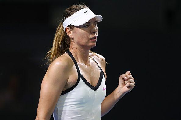 Maria Sharapova crashed out of the Brisbane International last night