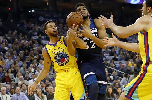 The addition of Karl-Anthony Towns would put the Warriors back in contention