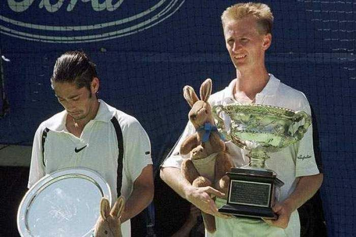 Petr Korda (right) won his first Grand Slam title at the 1998 Austrlian Open