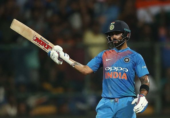 Kohli became the fastest captain to reach 11,000 international runs (requiring only 196 innings)