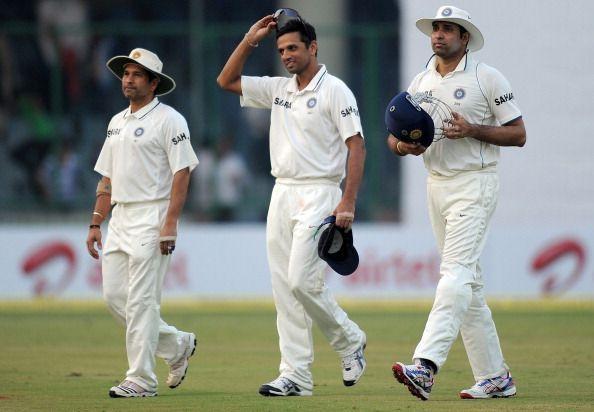 Sachin Tendulkar, Rahul Dravid, and VVS Laxman
