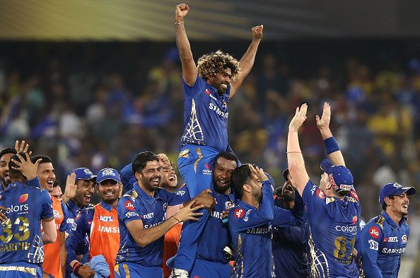 2019 IPL Final - Mumbai Indians taking a victory lap