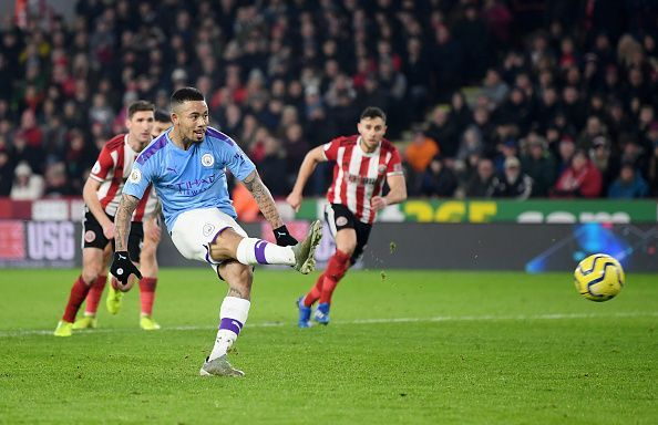 Gabriel Jesus missed a crucial penalty in the first half against Sheffield United