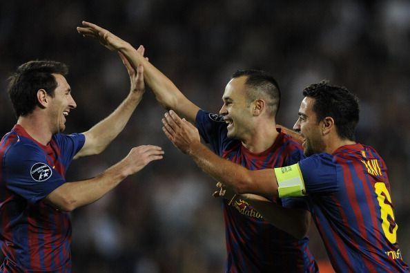 Xavi, Iniesta and Lionel Messi were integral to Pep Guardiola