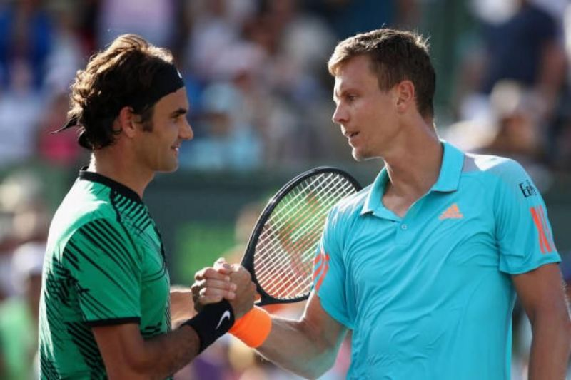 Federer (left) and Berdych (right)