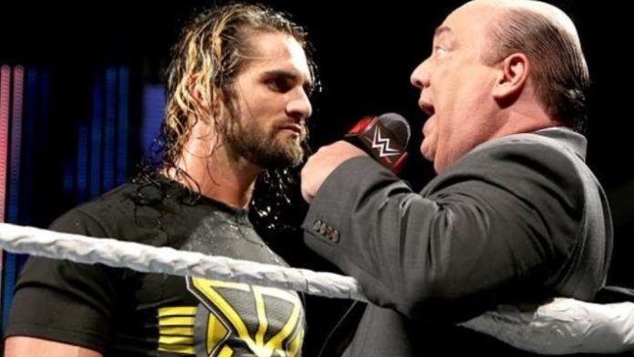 Seth Rollins and RAW Executive Director Paul Heyman