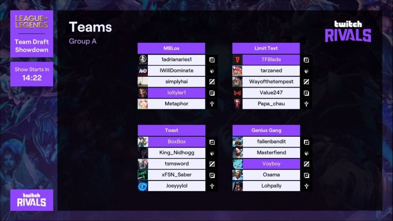 Group A (Credits: Twitch.tv/twitchrivals)