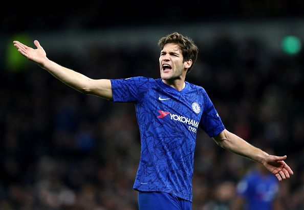 Marcos Alonso has been a peripheral figure in the Chelsea squad this season