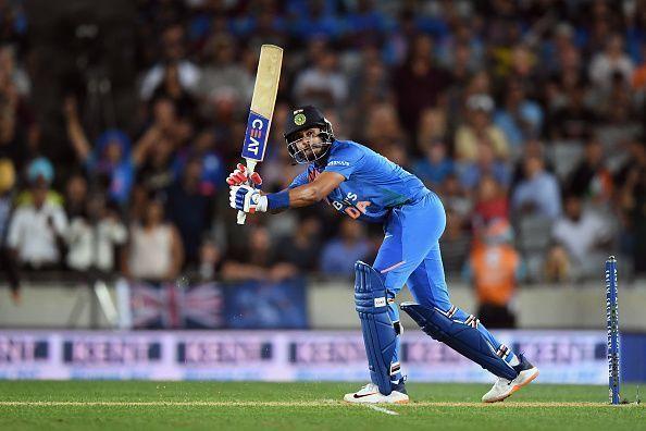 Shreyas Iyer flicks Hamish Bennett towards mid-wicket