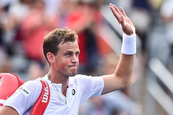 Vasek Pospisil had to come through the qualifiers in Auckland.